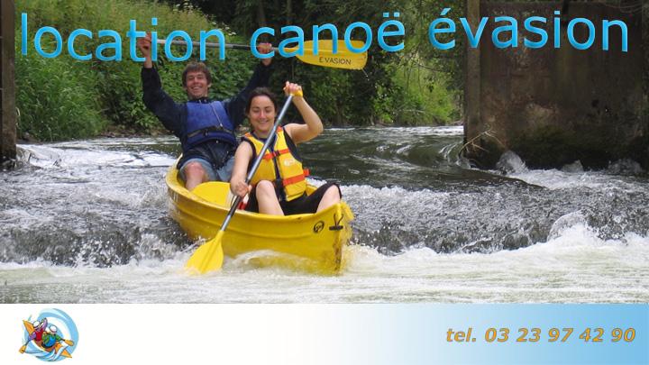 location canoë évasion